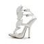 Swede Leather Sandals Cone Heel Leaf Girls' Dress Average