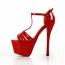Medium Wedding Shoes Stiletto Heel Buckle Dress Women's Sandals