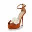 Medium Pumps/Heels Genuine Leather Buckle Sandals Party & Evening Stiletto Heel