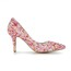 Abnormal/Fantasy Heels Pumps/Heels Pointed Toe Imitation Pearl Dress Women's Patent Leather