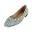 Rhinestone Loafers Patent Leather Average Women's Low Heel Office & Career