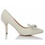 Patent Leather Wedding Shoes Average Abnormal/Fantasy Heels Women's Wedding Bowknot