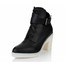 Average Platforms Genuine Leather Chunky Heel Girls' Pointed Toe Outdoor