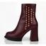 Pumps/Heels Wedding Shoes Booties/Ankle Boots Women's Graduation Zipper Cow Leather