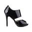Opalescent Lacquers Sandals Peep Toe Stiletto Heel Women's Honeymoon Zipper