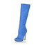Stiletto Heel Wedding Shoes Dress Knee High Boots Women's Average Zipper