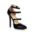 Narrow Dance Shoes Buckle Closed Toe PU Women's Cone Heel