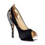 Silk Like Satin Pumps/Heels Peep Toe Stiletto Heel Women's Lace Wedding