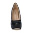 PU Wedding Shoes Wedding Stiletto Heel Wide Girls' Pumps/Heels