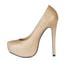 Office & Career Platforms Wide PU Pumps/Heels Sparkling Glitter Stiletto Heel