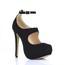 Girls' Pumps/Heels Buckle Stretch Velvet Closed Toe Stiletto Heel Dress