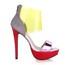 Sandals Sandals Split Joint Stiletto Heel Plastics Dress Extra Wide