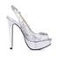 Women's Wedding Shoes Wide Open Toe Sequined Cloth/Sparkling Glitter Stiletto Heel Buckle