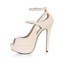 Buckle Platforms Party & Evening Extra Wide Stiletto Heel PU Women's