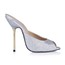 Average Slippers Sequined Cloth/Sparkling Glitter Stiletto Heel Outdoor Women's Round Toe