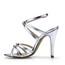 Average Wedding Shoes Girls' Stiletto Heel Braided Strap PU Sandals