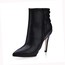 Stiletto Heel Pumps/Heels Graduation Boots Zipper PU Narrow