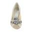 Honeymoon Wedding Shoes Low Heel Satin Girls' Rhinestone Round Toe