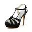Open Toe Sandals Satin Honeymoon Stiletto Heel Girls'
