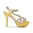 Wedding Platforms Stiletto Heel Rhinestone Slingbacks Girls' Satin