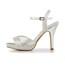 Party & Evening Platforms Stiletto Heel Sandals Women's Satin Buckle