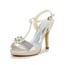Women's Sandals Pumps/Heels Stiletto Heel Graduation Buckle Satin