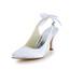 Satin Wedding Shoes Kitten Heel Rhinestone Slingbacks Girls' Party & Evening