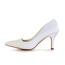 Split Joint Pumps/Heels Satin Women's Casual Pointed Toe Kitten Heel