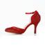Kitten Heel Pumps/Heels Dress Buckle Sequined Cloth/Sparkling Glitter Girls' Closed Toe