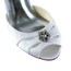 Daily Wedding Shoes Sandals Rhinestone Women's Satin Kitten Heel