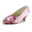 Average Wedding Shoes Ruched Satin Wedding Women's Pumps/Heels