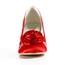 Satin Wedding Shoes Party & Evening Flower Kitten Heel Average Women's