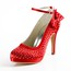 Rhinestone Wedding Shoes Satin Girls' Pumps/Heels Dress Stiletto Heel