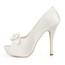 Peep Toe Platforms Women's Silk Like Satin Stiletto Heel Satin Flower Honeymoon