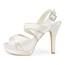 Sandals Sandals Buckle Women's Casual Silk Like Satin Stiletto Heel