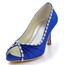 Dress Pumps/Heels Open Toe Kitten Heel Silk Like Satin Women's Rhinestone