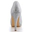 Round Toe Wedding Shoes Wedding Sequined Cloth/Sparkling Glitter Stiletto Heel Girls' Sparkling Glitter