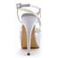 Silk Like Satin Platforms Ruched Stiletto Heel Girls' Dress Round Toe