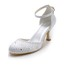 Women's Wedding Shoes Office & Career Sandals Low Heel Silk Like Satin Buckle