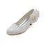 Closed Toe Pumps/Heels Silk Like Satin Low Heel Flower Honeymoon Women's
