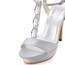 Silk Like Satin Platforms Stiletto Heel Pumps/Heels Rhinestone Graduation Women's